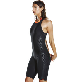 speedo Fit Neoprene Pro Swimsuit Damen black/fluo orange